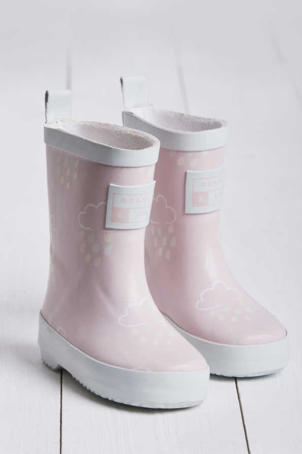Grass & Air - Revealing Wellies BABY PINK