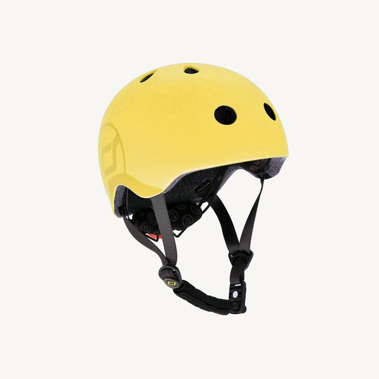 Scoot & Ride Helmet with LED Light - Lemon - S-M