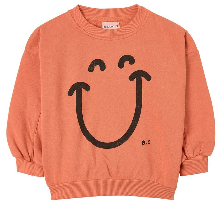 BOBO CHOSES Melon Big Smile Sweatshirt