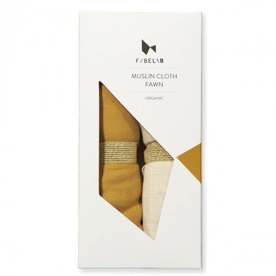 Fabelab Muslin Cloths - 2 Pack - FAWN