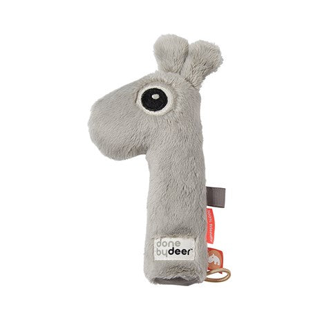 Done by deer Squeaker rattle, Raffi, Grey