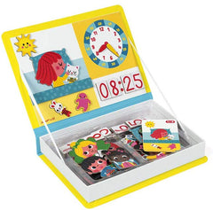 Janod LEARN TO TELL THE TIME MAGNETI'BOOK