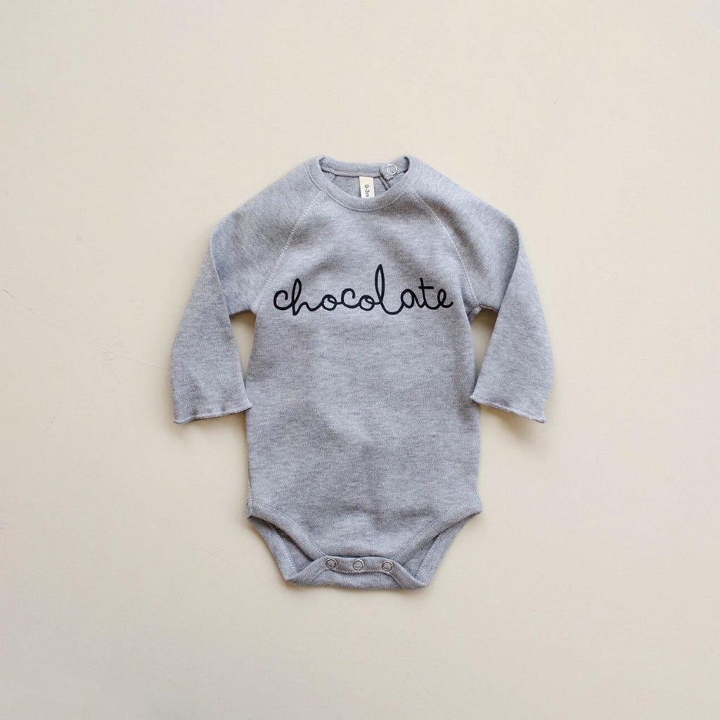 Natural bodysuit Chocolate Grey