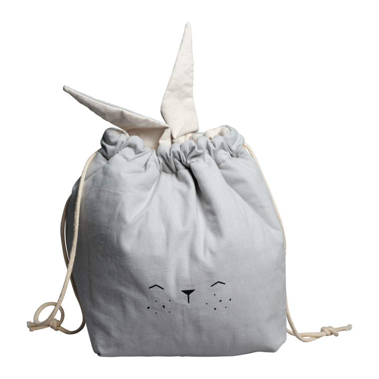 Fabelab STORAGE BAG - SMALL - BUNNY - ICY GREY
