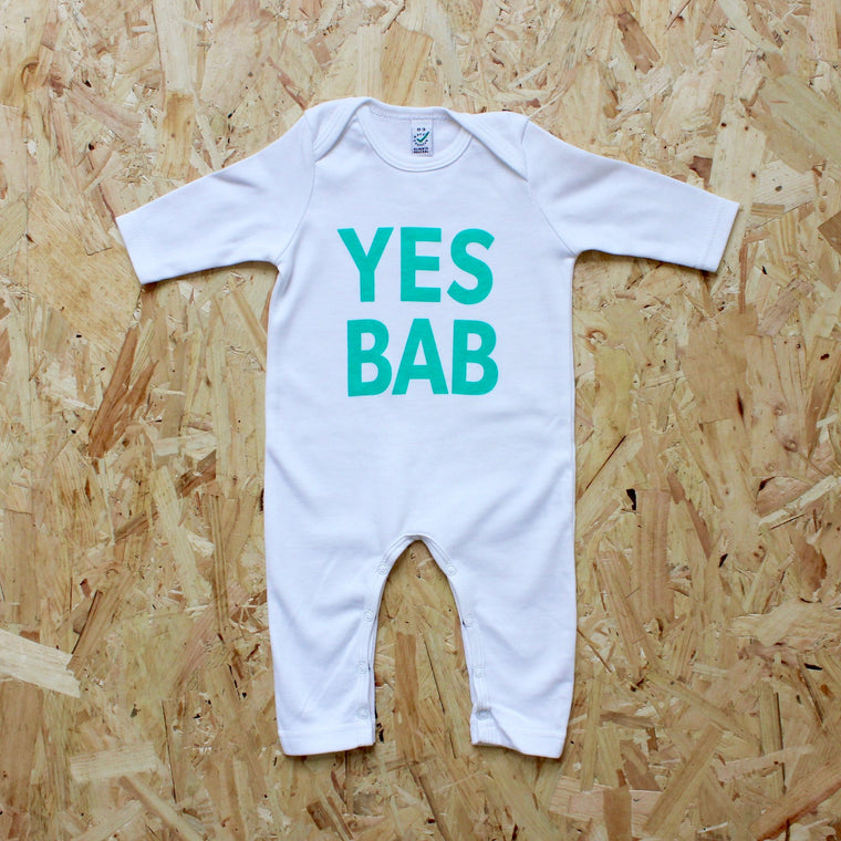 Punks and Chancers - YES BAB white romper