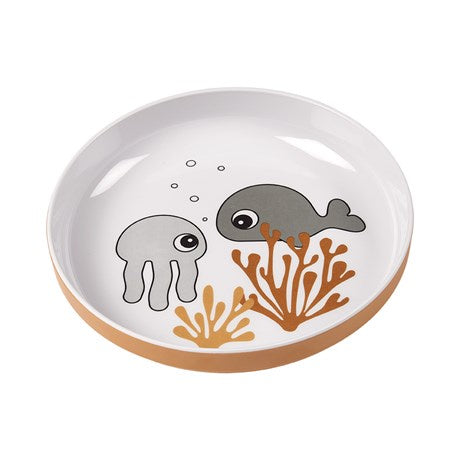 Yummy mini plate Sea friends Mustard/Grey