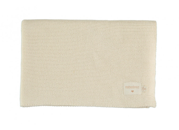 Nobodinoz So Natural knitted baby blanket • Natural