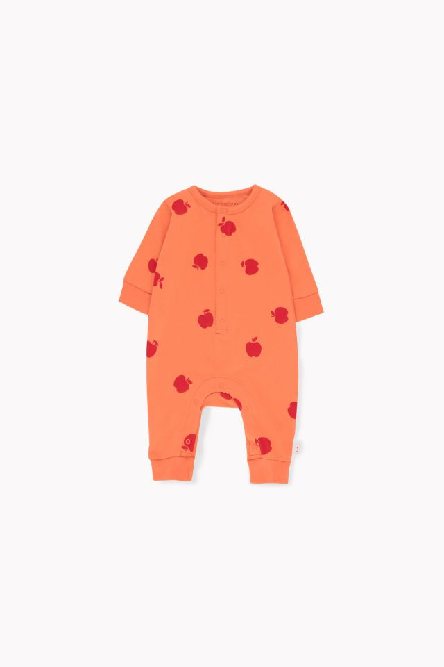 tiny cottons APPLES ONE-PIECE coral