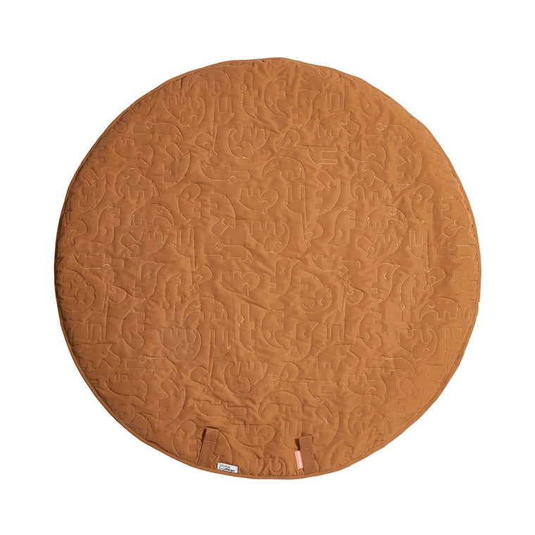 done by deer Round play mat Sleepy - Mustard