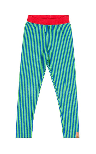 lamama Leggings NIGHT STRIPES GREEN