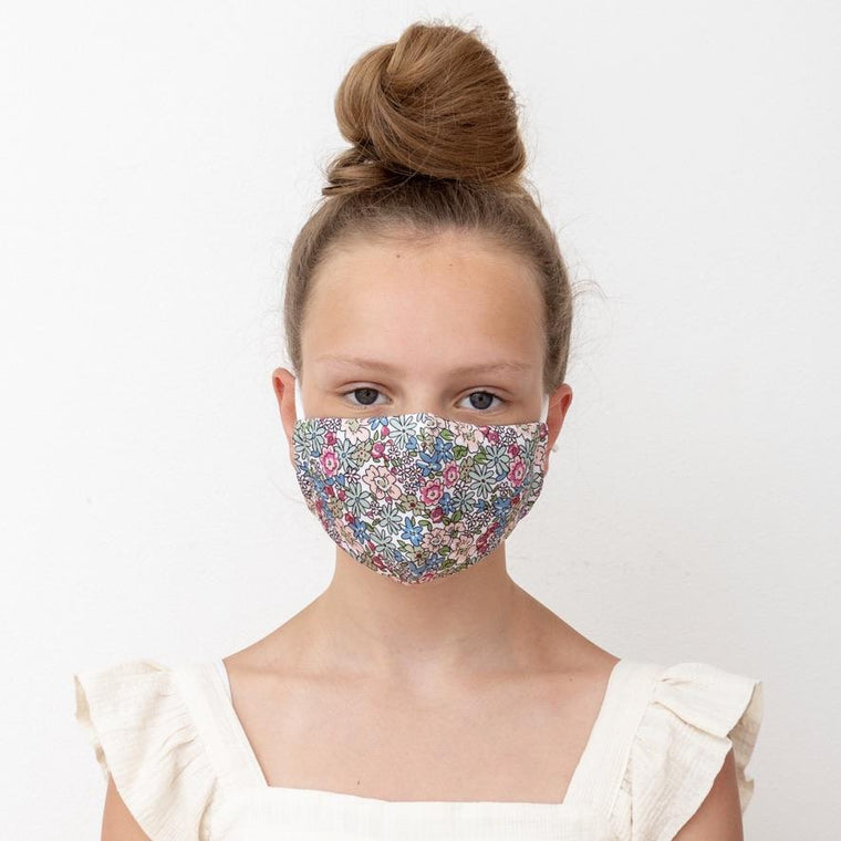 Mimi and Lula Child floral print face mask