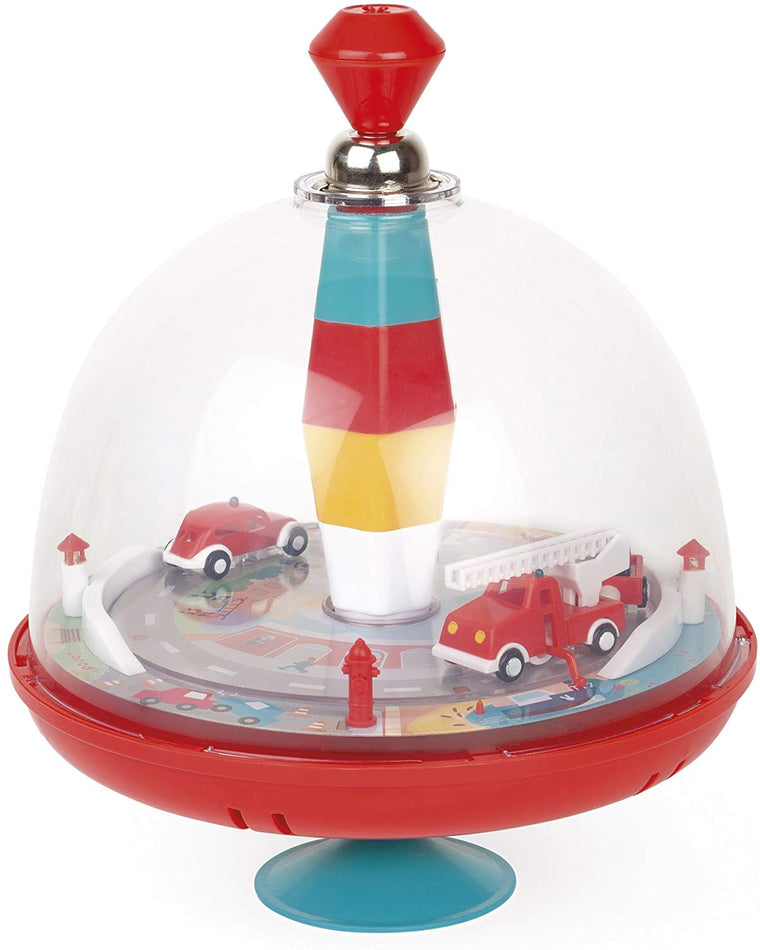 Janod Musical Firefighter Spinning Top Game