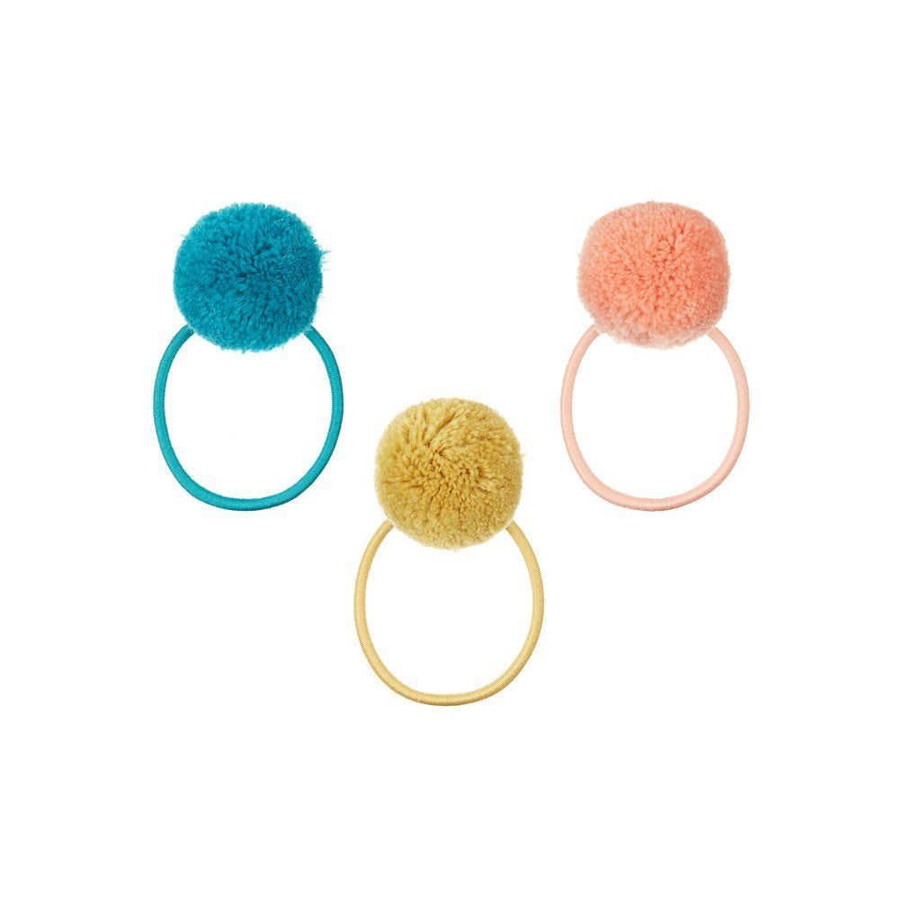 Pom pom ponies 3 (teal mustard and peach
