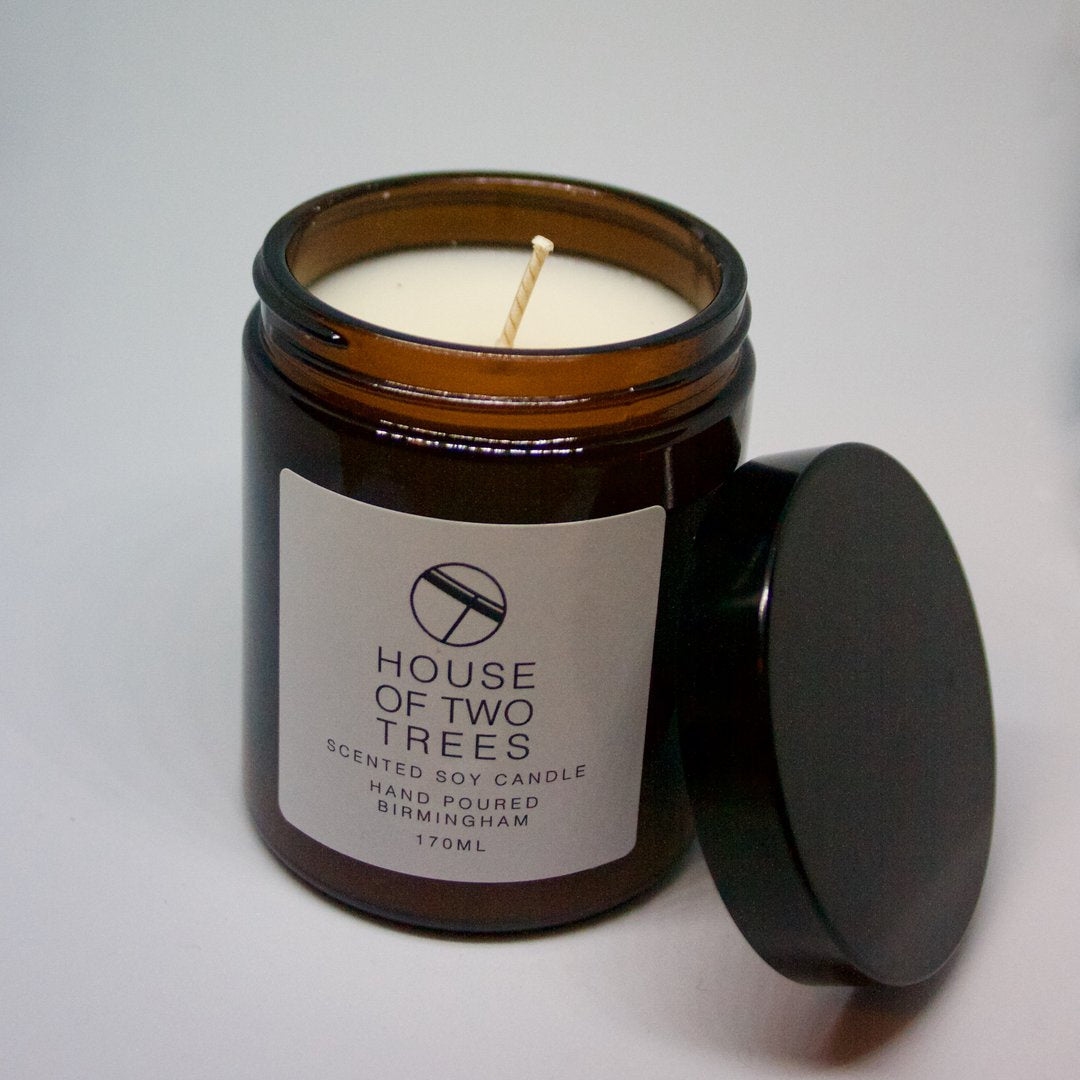 SHARP PEELS | LIME, BASIL AND MANDARIN Soy Candle - Medium