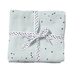 done by deer, Swaddle, 2-pack, Dreamy dots, blue