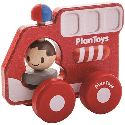 Plan Toys Fire Truck Push & Play Toy