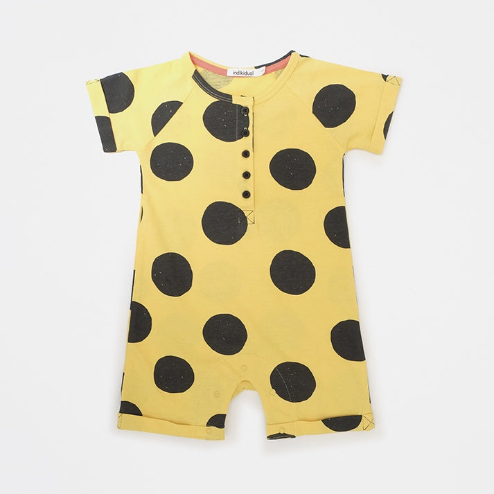 Indikidual Spot Button Front Romper TOKYO