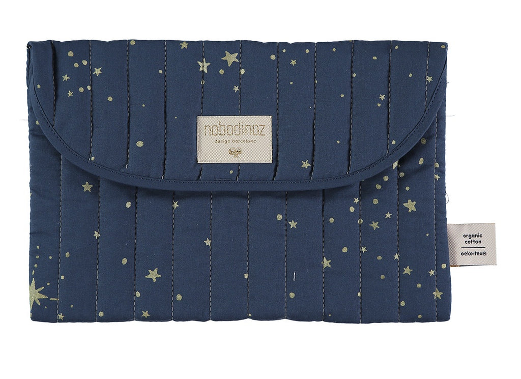 Nobodinoz Nappy Case Bagatelle pouch - gold stella/ night blue