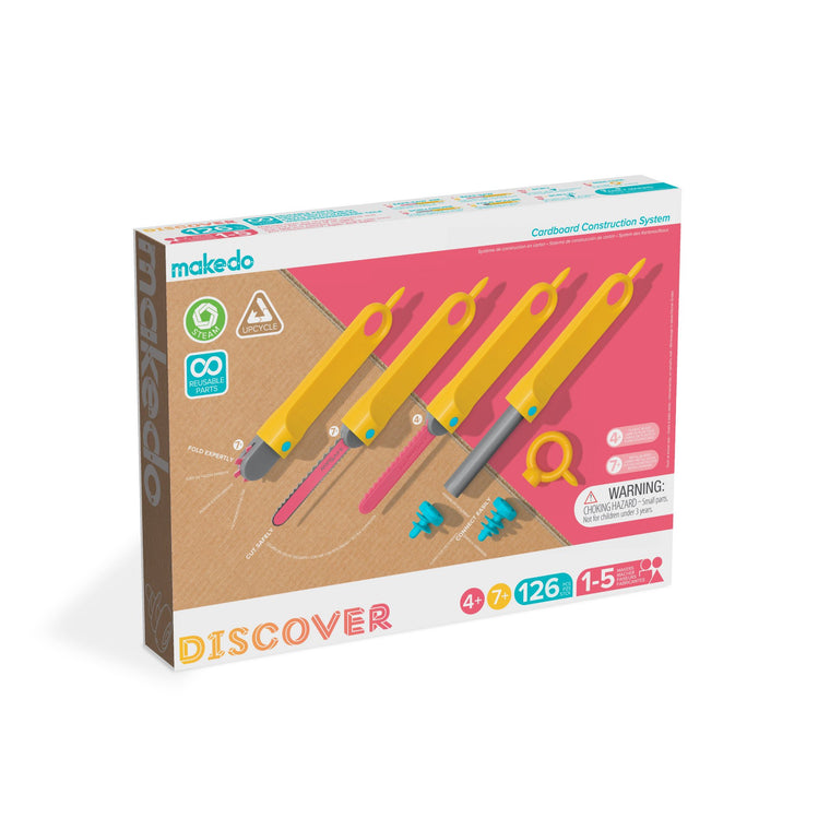 Makedo Discover FAMILY SET age 4+ and 7+