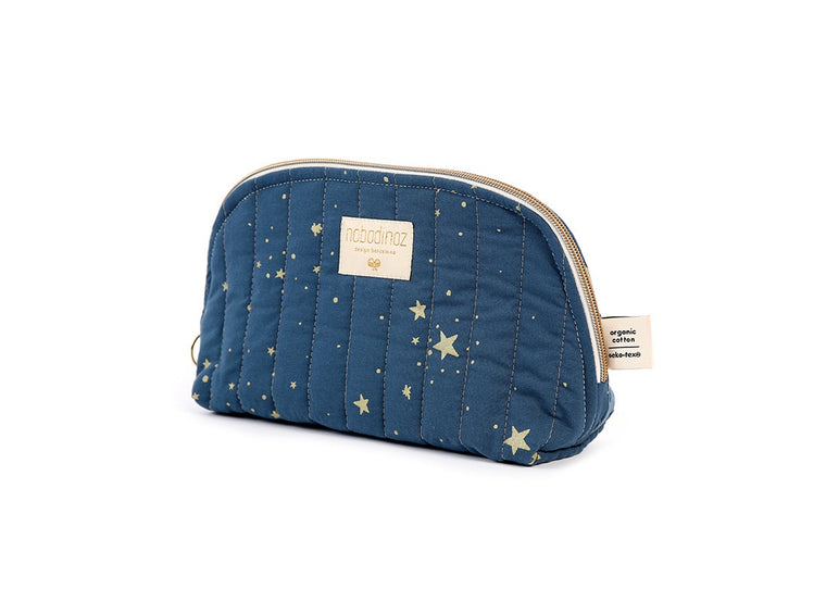 Nobodinoz Holiday vanity case gold stella/ night blue LARGE 18X23