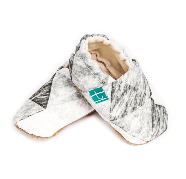 Titot Organic Slippers Grey Triangles
