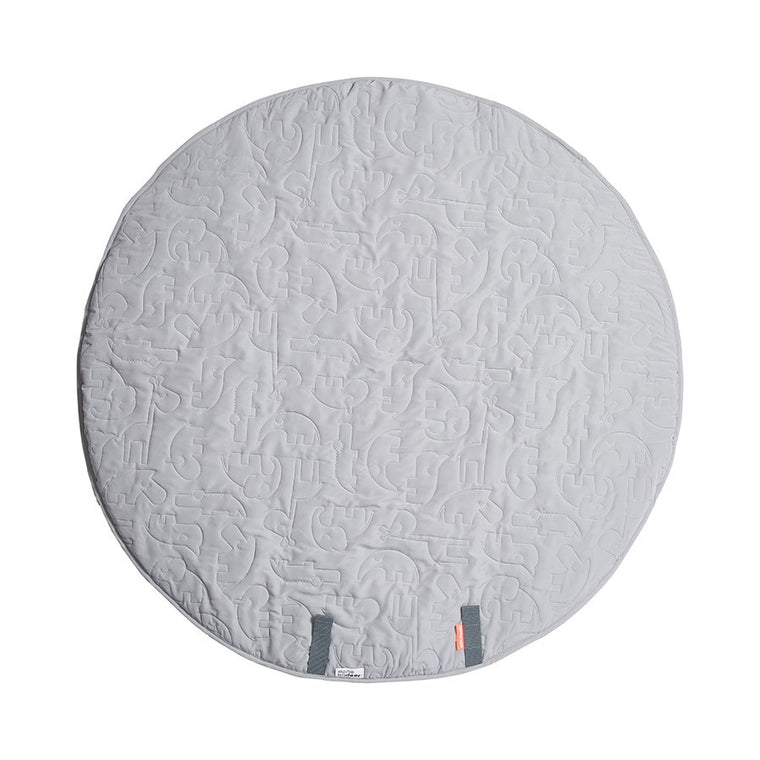 done by deer Round play mat Sleepy - Grey