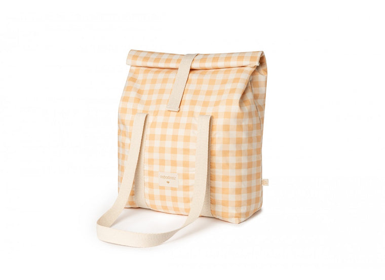 NOBODINOZ SUNSHINE FAMILY COOLER BAG - MELON VICHY
