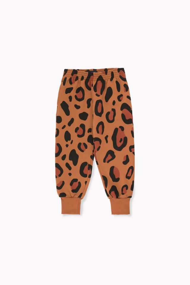 tiny cottons ANIMAL PRINT SWEATPANT brown
