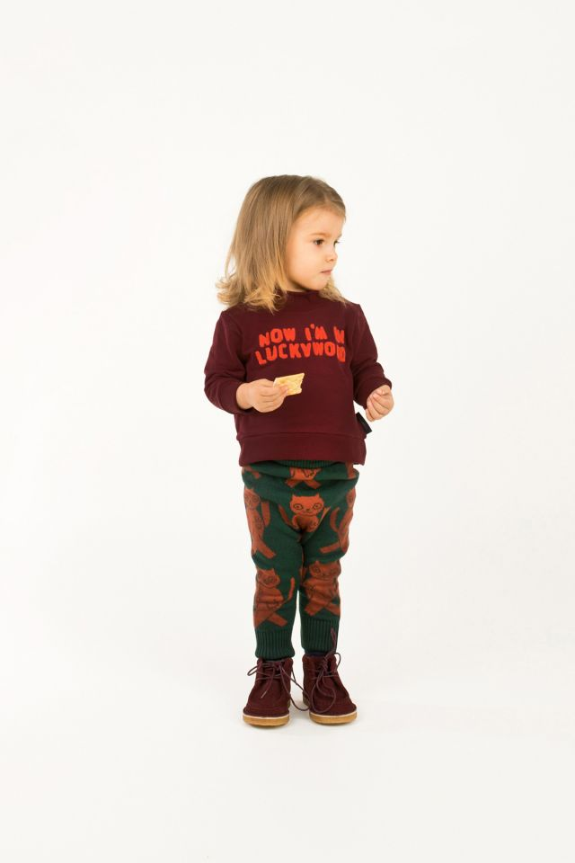 "tiny cottons ""LUCKYWOOD SIGN"" SWEATSHIRT aubergine"