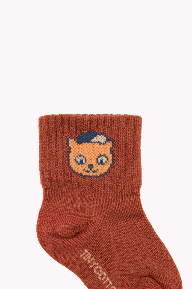 Tiny Cottons CAT socks BROWN