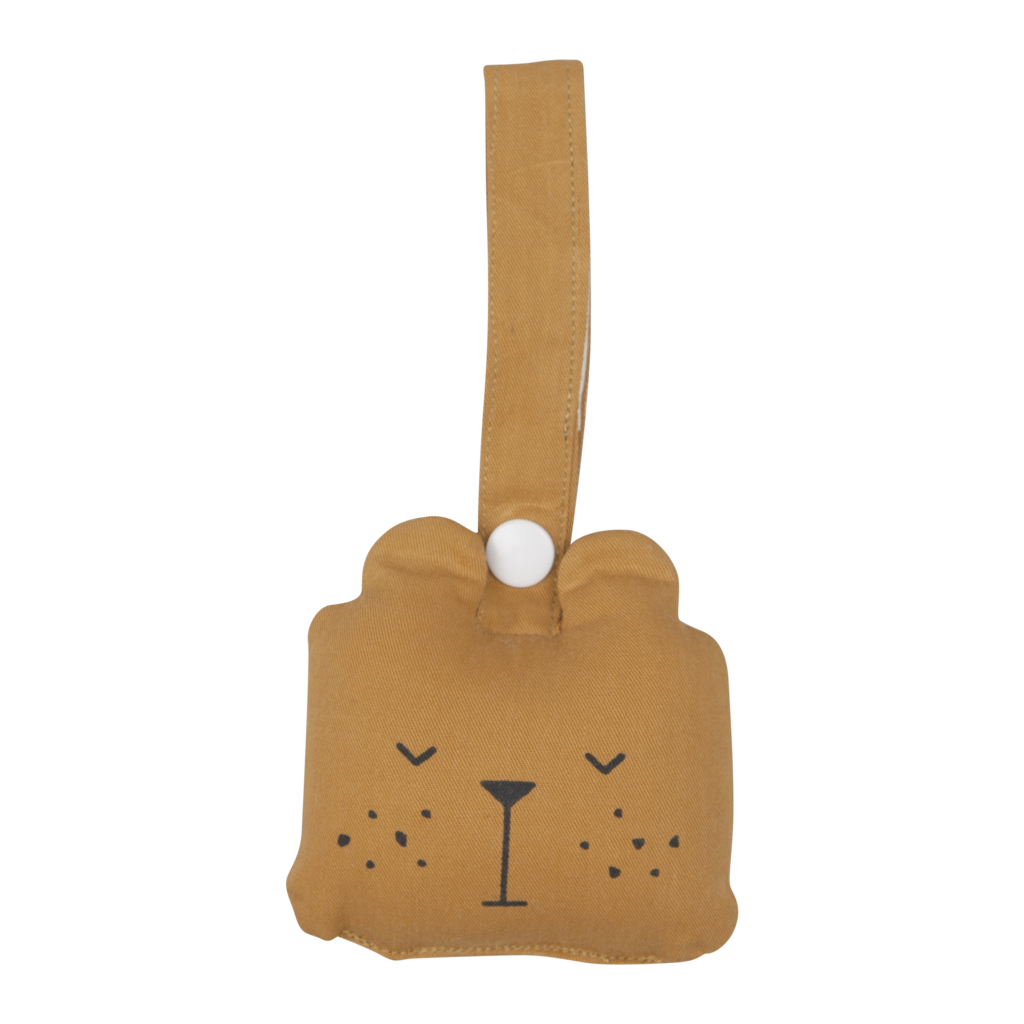 Fabelab ANIMAL RATTLE Bear OCHRE