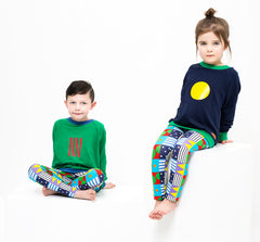 lamama Jumper Dark Blue Yellow Circle