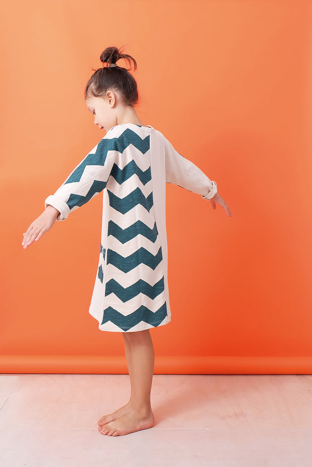 Indikidual Green/Stone Panel Dress