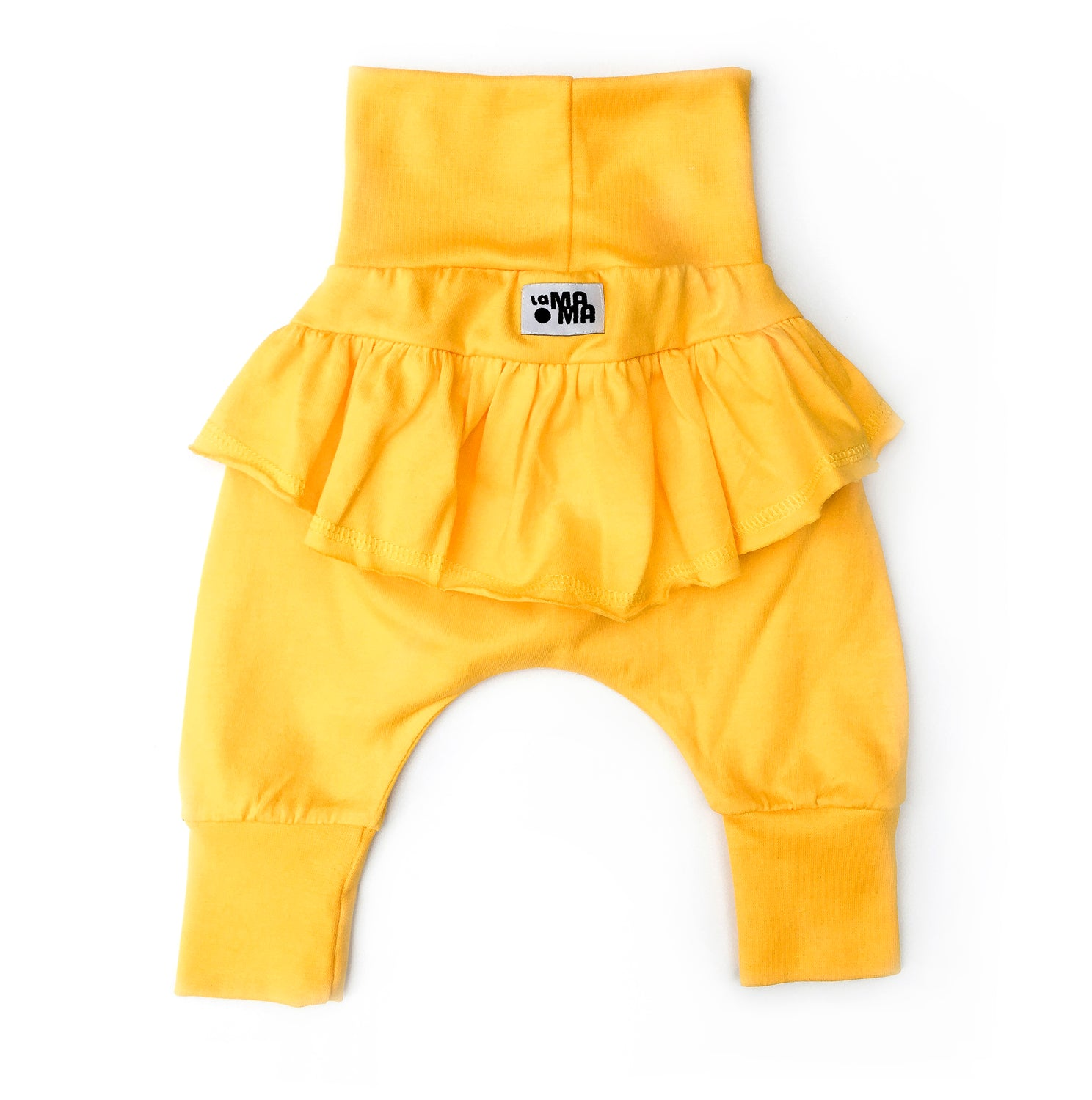 lamama Frill Bagg Yellow Baby & Toddler Yoga Pants