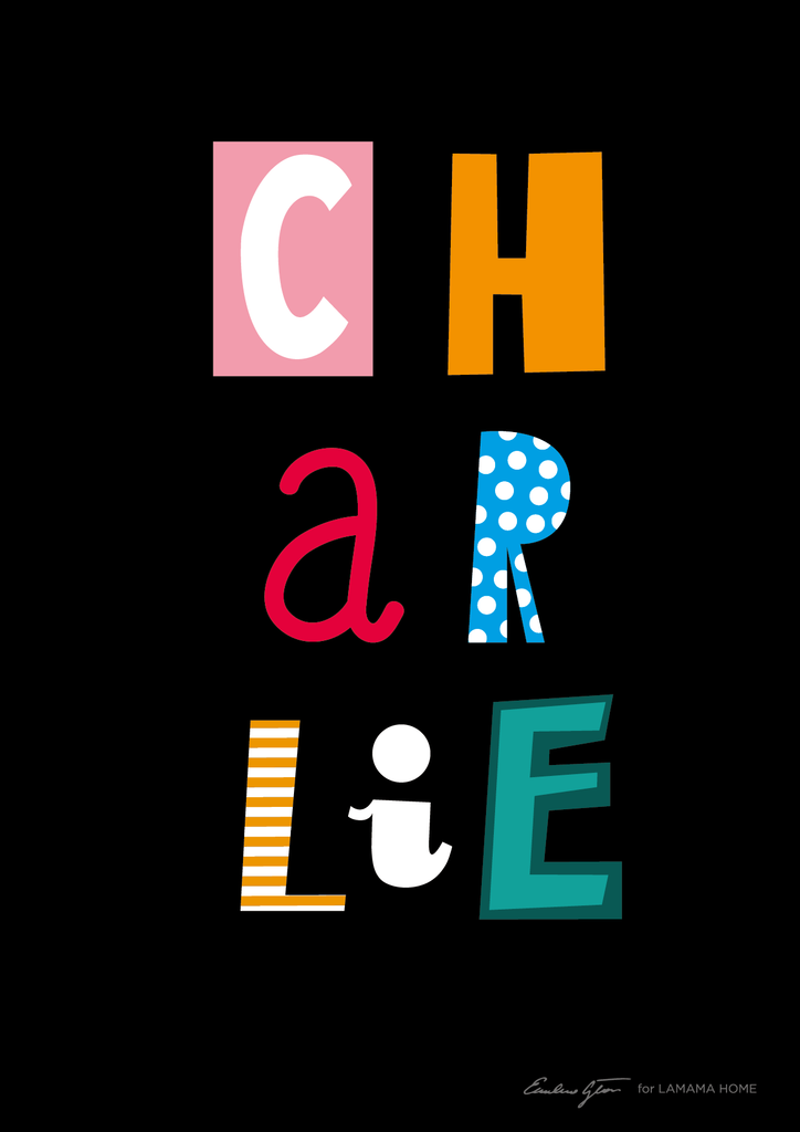 CHARLIE Style Personalised Poster