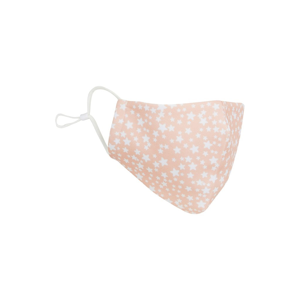 Mimi and Lula Adult star print face mask-pink