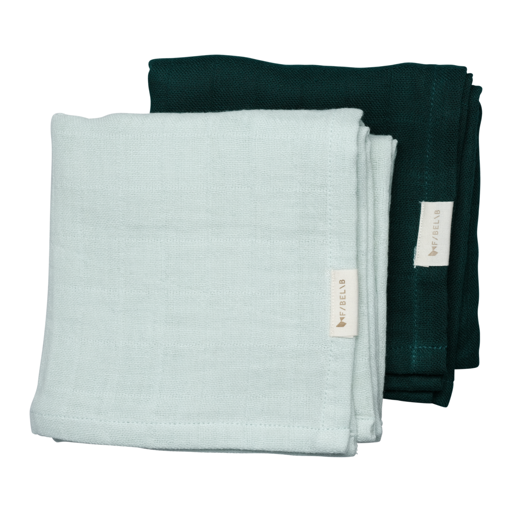 Fabelab Muslin Cloths - 2 Pack - Sprout