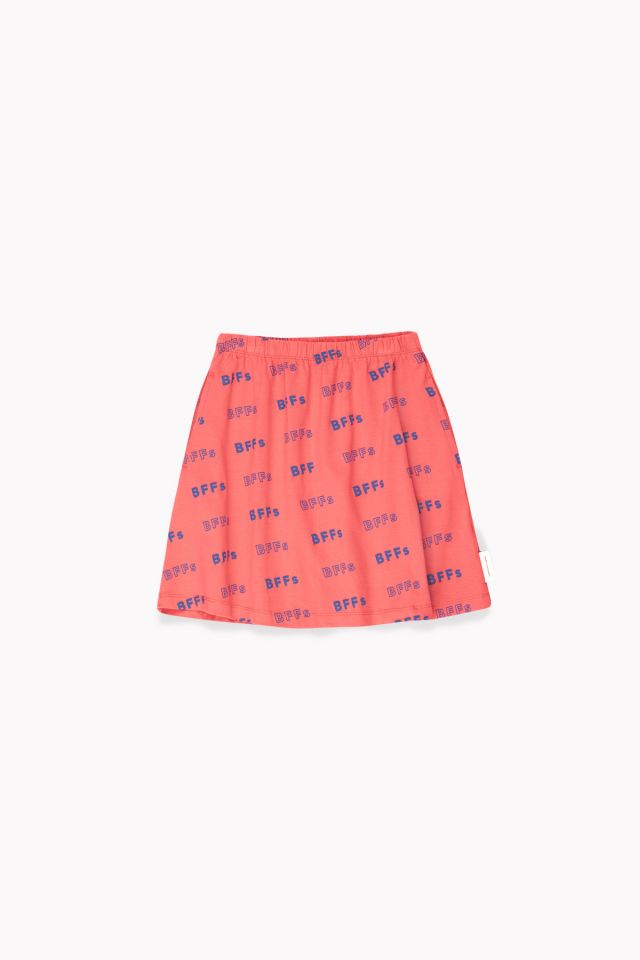 Tiny Cottons  BFFS SHORT SKIRT LIGHT RED / ULTRAMARINE
