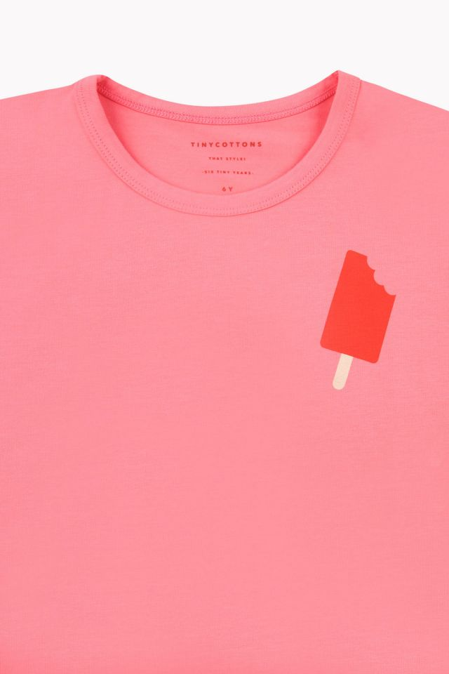 Tiny Cottons POPSICLE Short Sleeve TEE rose / red