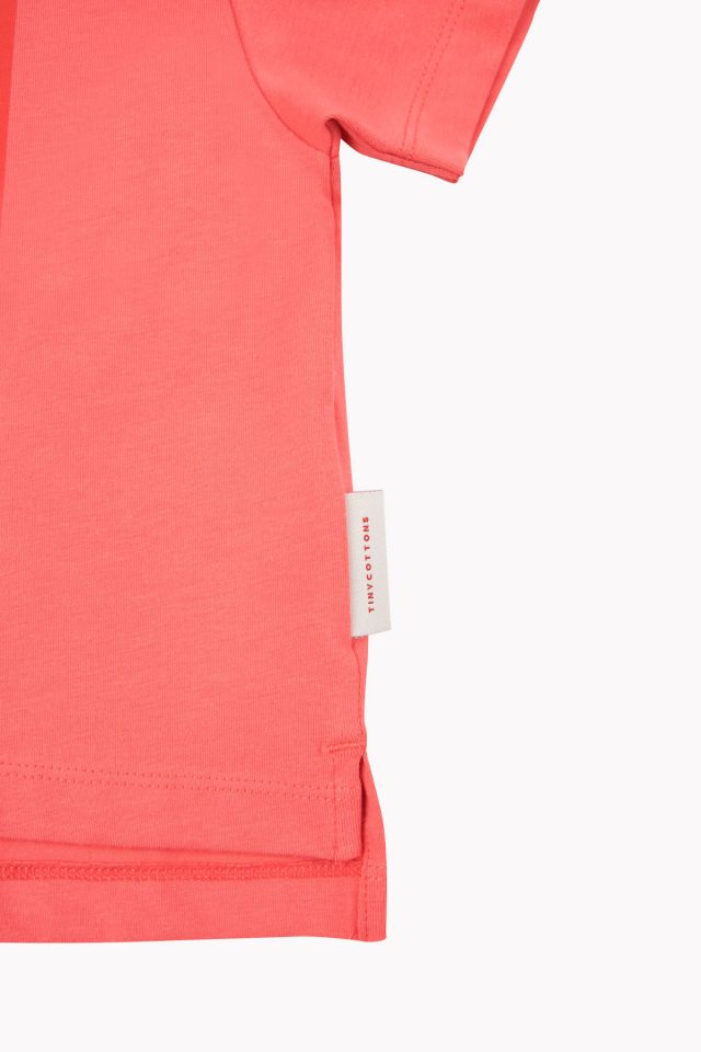 Tiny Cottons SWEET Short Sleeve CROP TEE red