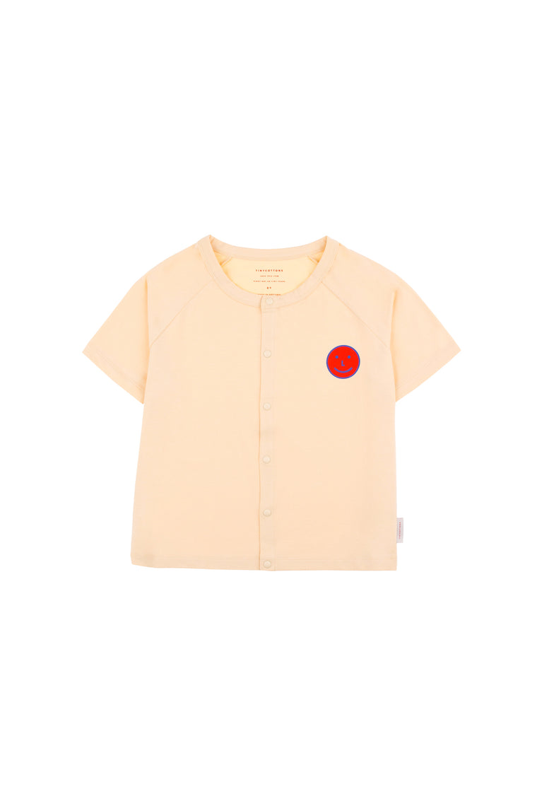 Tiny Cottons HAPPY FACE' SS CARDIGAN cream/red