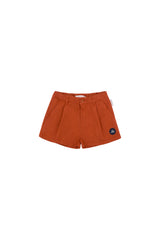 Tiny Cottons 1ST PRIZE PLEAT SHORTS sienna