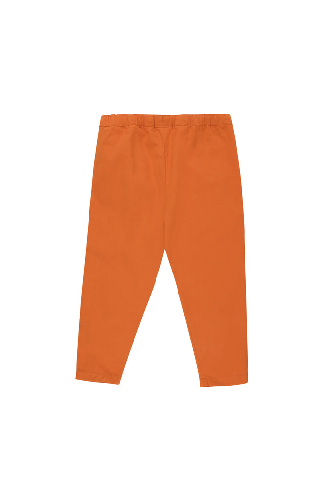 HAPPY FACE CROPPED PANTS brown