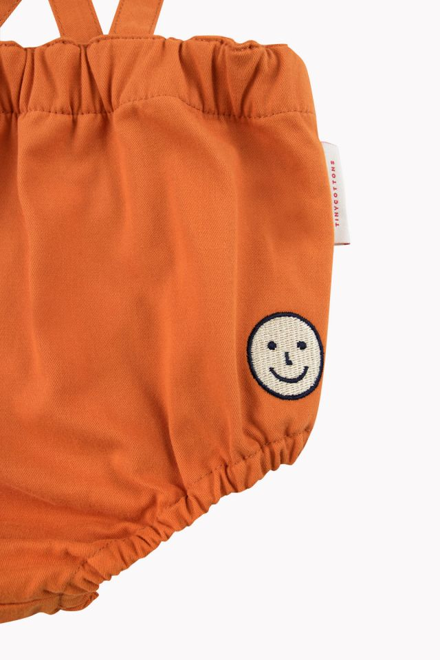 Tiny Cottons HAPPY FACE BRACES BLOOMER brown