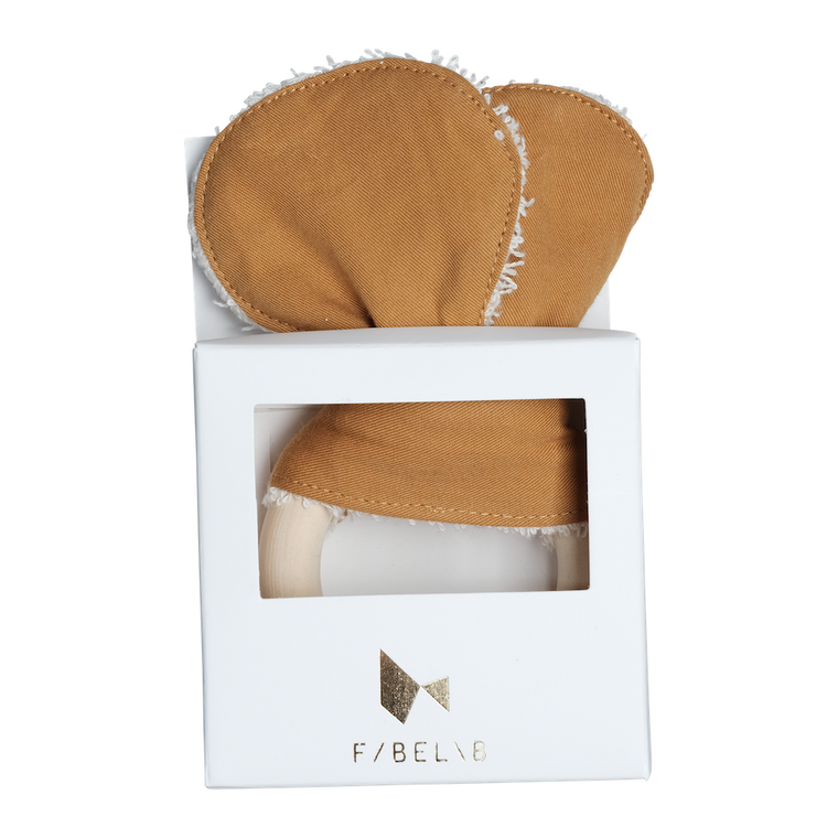 Fabelab ANIMAL TEETHER- BEAR- OCHRE