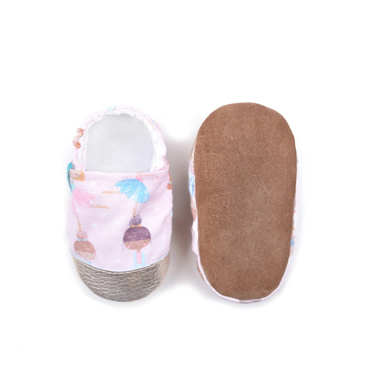 Titot leather sole PINK BALLERINAS