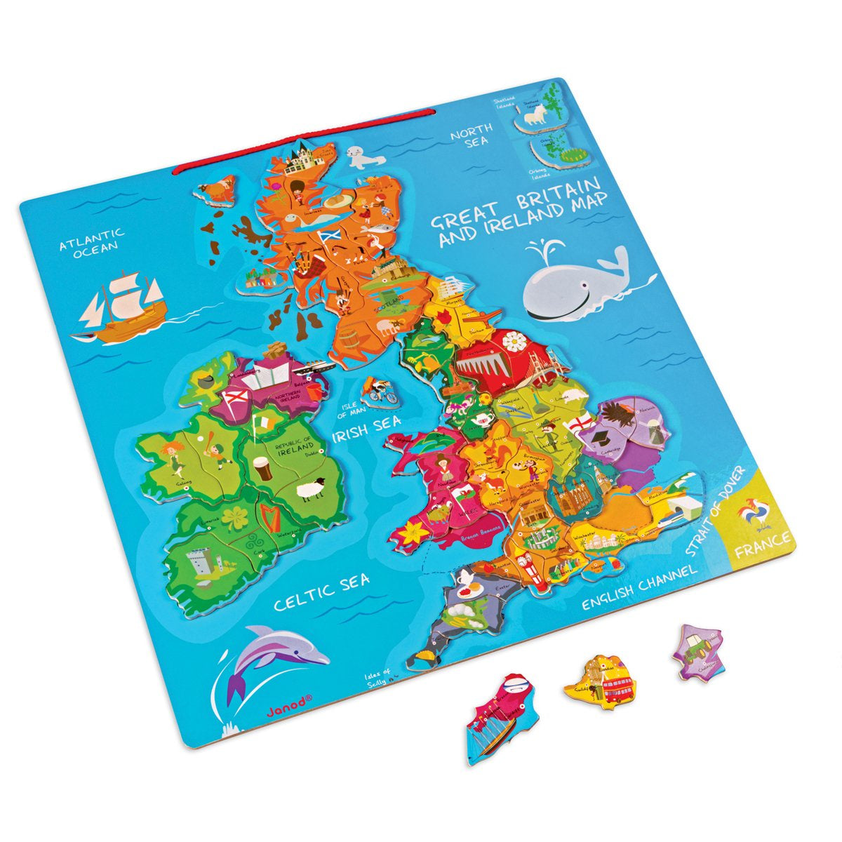 Janod MAGNETIC MAP UK & IRELAND
