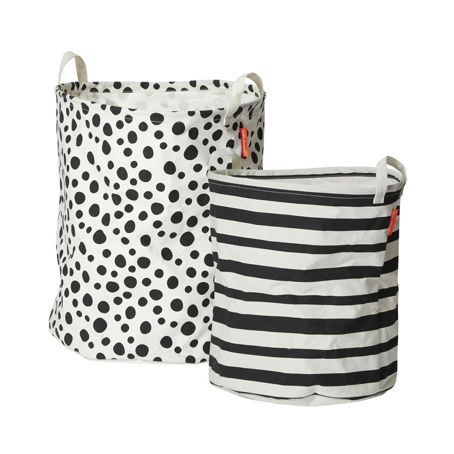 done by deer Soft storage basket, 2 pcs, black