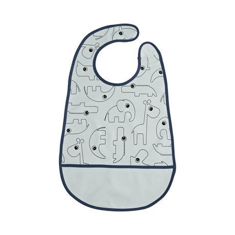 Done by deer, Bib with velcro, Contour Blue