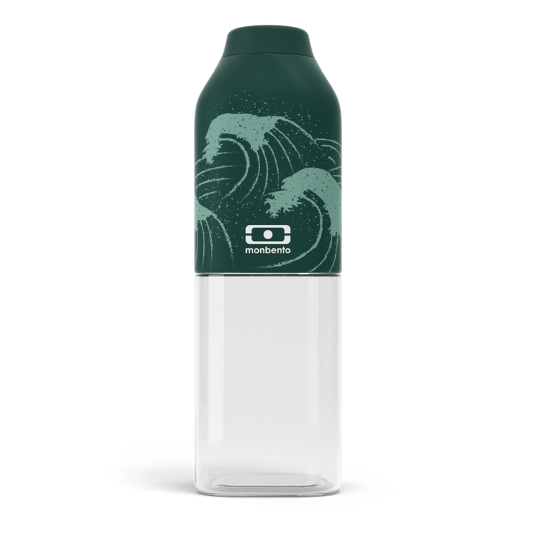 Monbento Positive M Water Bottle 50cl NAMI - GREEN WAVES
